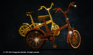 Nano-Chrome Plating - Bicycles in Gold and Bronze