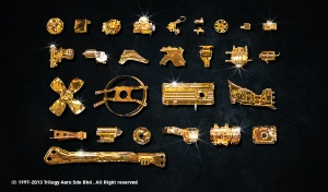 Nano-Chrome Plating - Automotive Parts in Gold